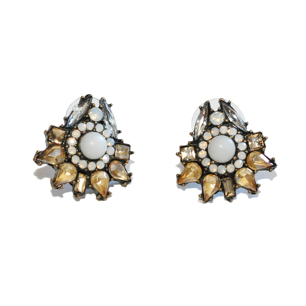Seymour Crystal Floral Earrings