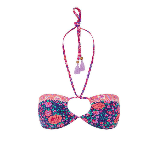 Spell & The Gypsy Collective Flamingo Blossom Bandeau in Pink