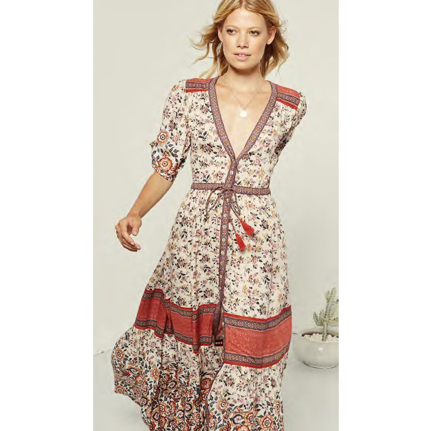 Spell & The Gypsy Collective Elle Gown in Rosewood - Sun Kissed Diary