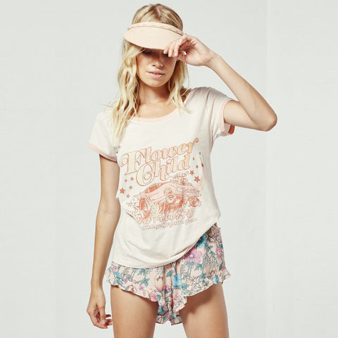 Spell & The Gypsy Collective Flower Child Tee in Macadamia