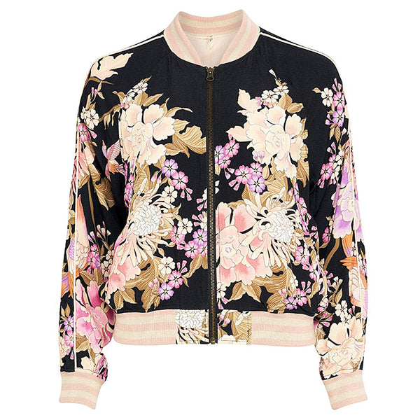 Spell & The Gypsy Collective Blue Skies Bomber Jacket in Black