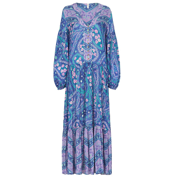 Spell & The Gypsy Collective Celestial Nights City Lights Gown in Indigo