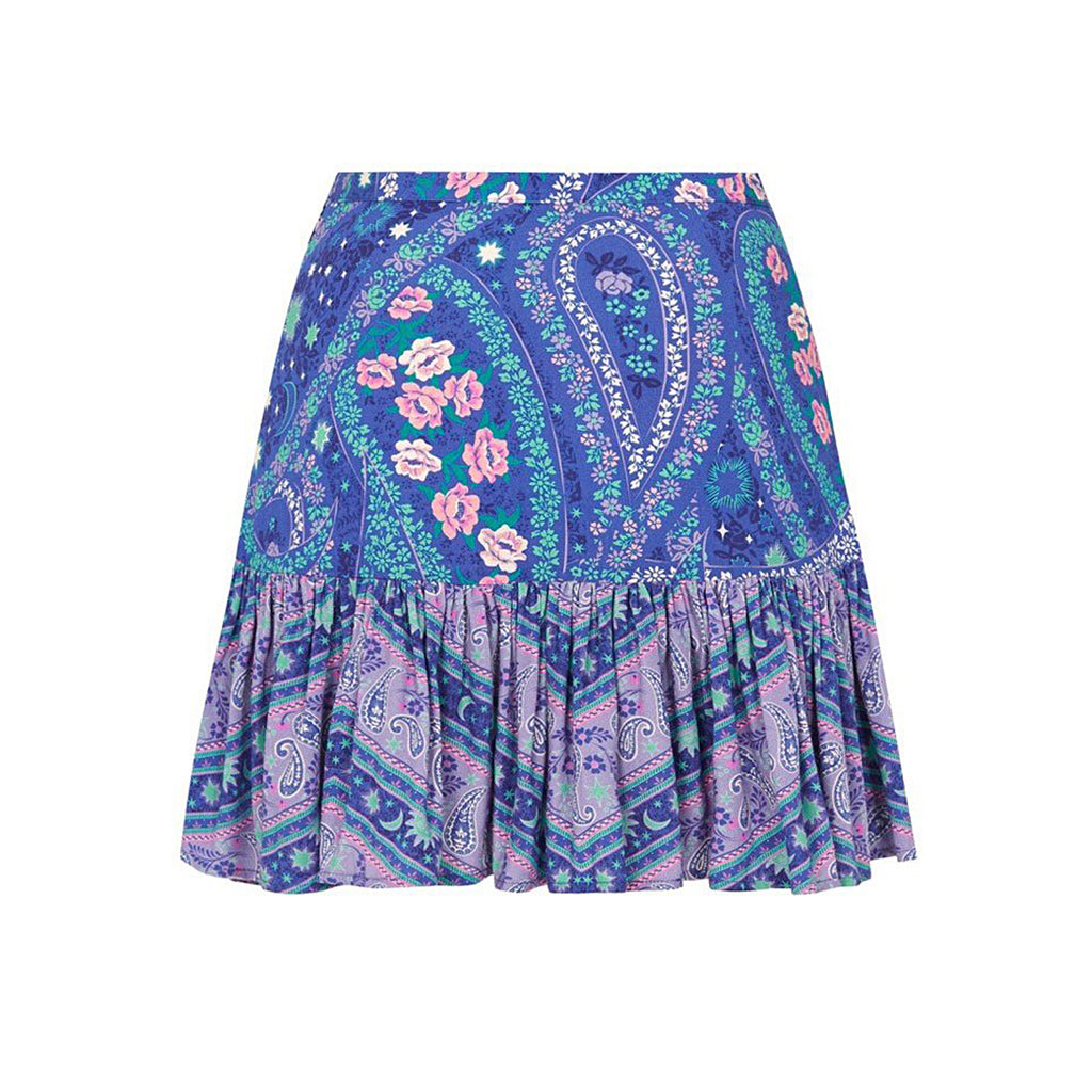 Spell & The Gypsy Collective Celestial Nights City Lights Mini Skirt in Indigo