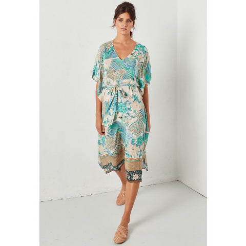 Spell & The Gypsy Collective Cloud Dancer Kaftan in Porcelain