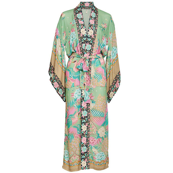 Spell & The Gypsy Collective Cloud Dancer Maxi Kimono in Sage