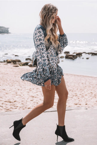 Spell & The Gypsy Collective Elle Boho Dress in Indigo