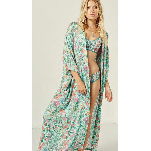 Spell & The Gypsy Collective Sayulita Kimono in Birthstone