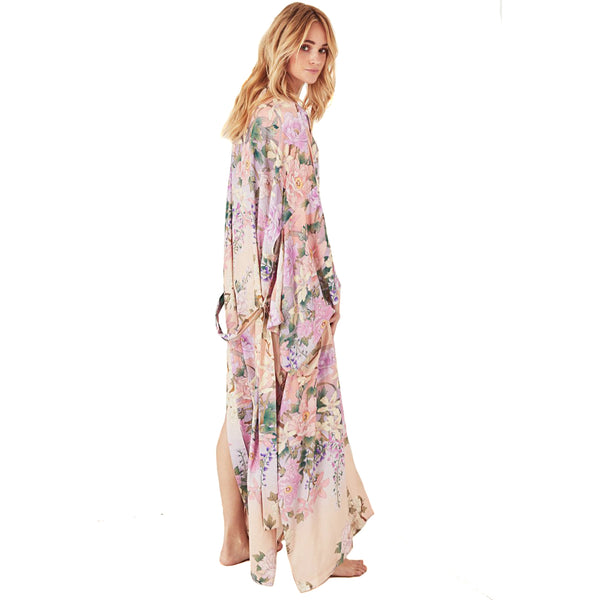 Spell & The Gypsy Collective Jasmine Lily Maxi Kimono in Lilac