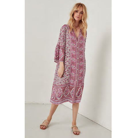 695d4247dc Spell   The Gypsy Collective Jasmine Midi Tunic in Lilac ...