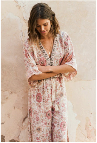 Spell & The Gypsy Collective Lionheart Zahara Pantsuit in Rosewater