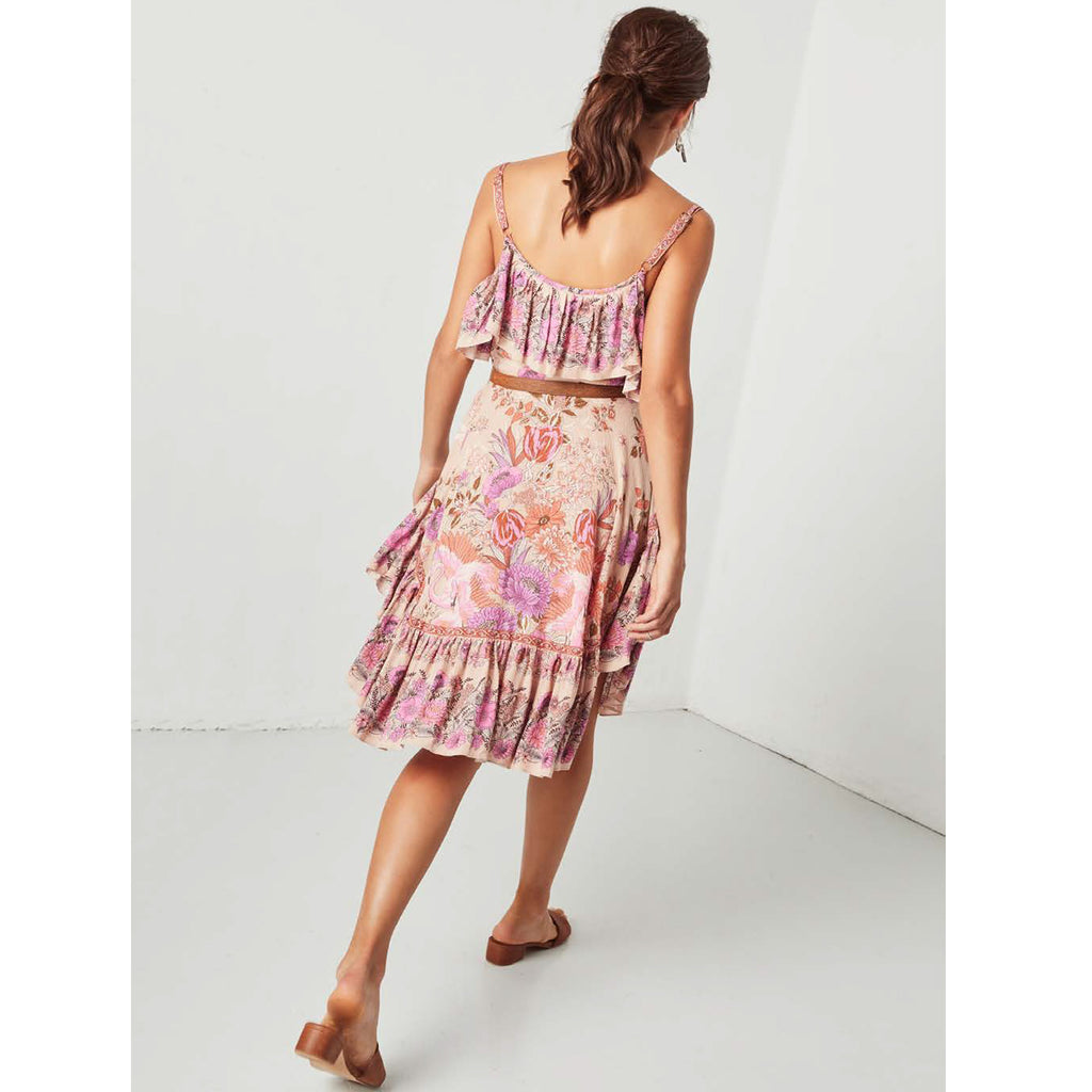 Spell & The Gypsy Collective Siren Song Strappy Dress in Flamingo