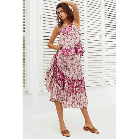 c7ea23312c ... Spell   The Gypsy Collective Siren Song Winona Skirt in Berry