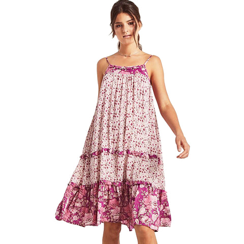 594f74cdc Spell & The Gypsy Collective Siren Song Winona Midi Dress in Berry ...