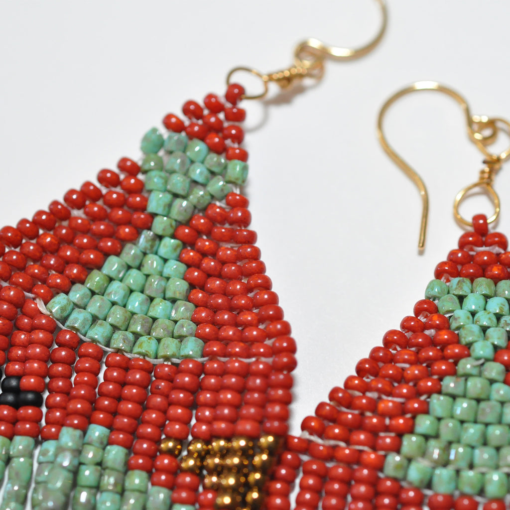 Sunce Bidjan Turquoise Red Earrings
