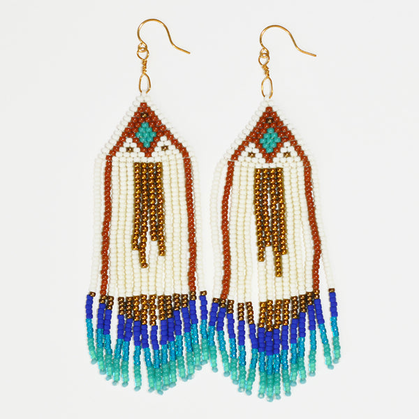 Sunce Bidjan Aqua Fringe Earrings
