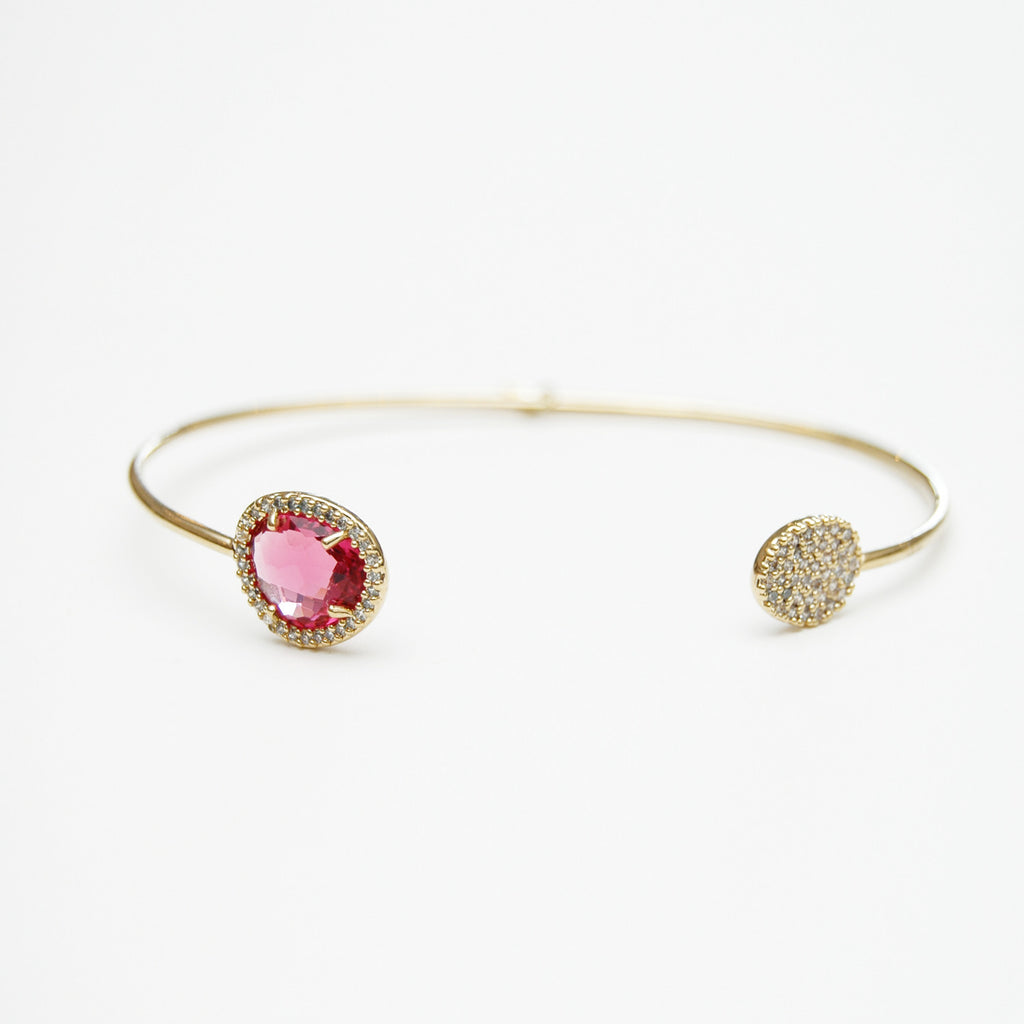 Tai Pink Crystal Bangle