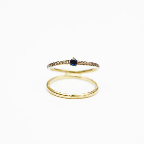 Tai Double Stack Blue Ring