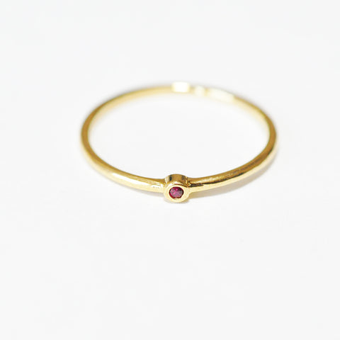 Tai Tiny Dot Ring in Red