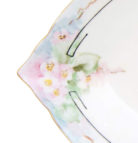 Vintage Pastel Teardrop Jewelry Bowl
