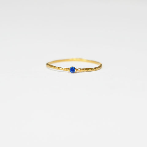 Seymour Gold Stacking Ring in Blue