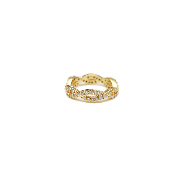 Seymour Pavé Twist Ring