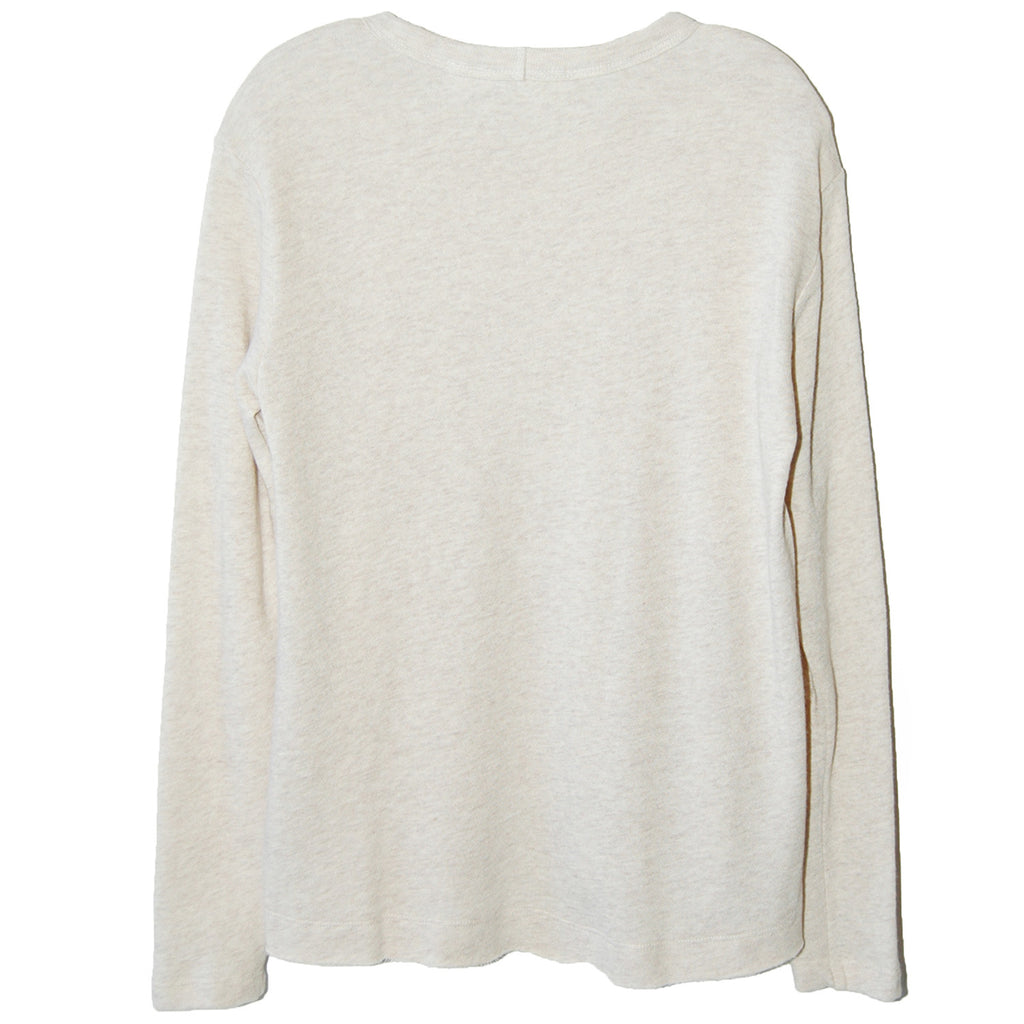 Wilt Raw Notch Hem Shrunken Sweatshirt in Oatmeal