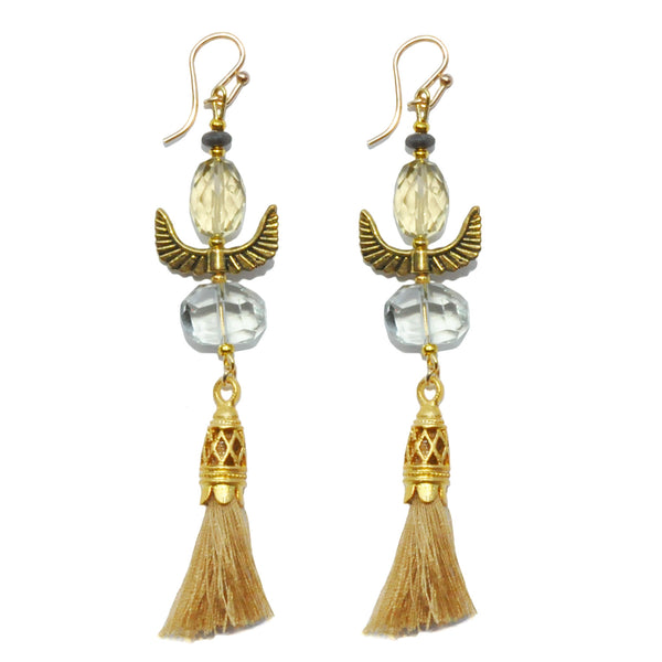 Les Pommettes Wing Tassel Earrings