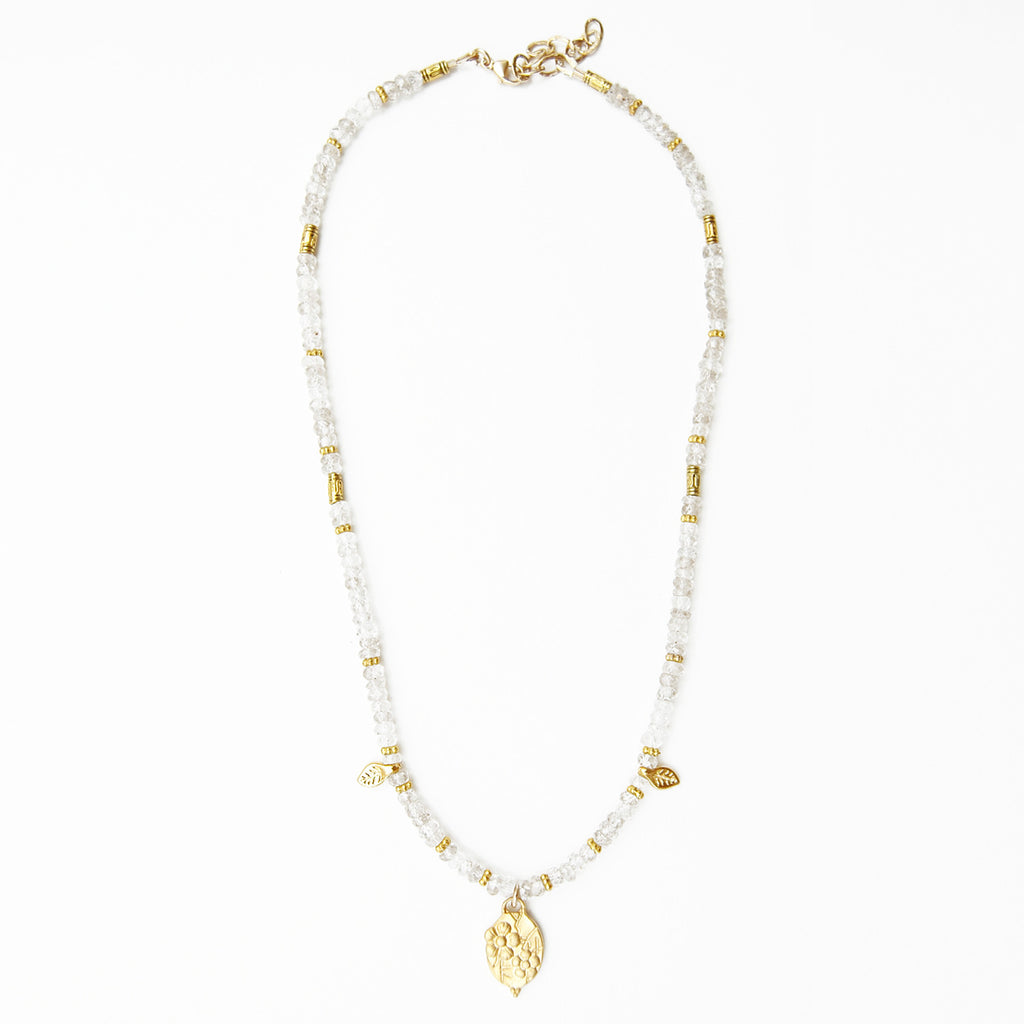 Natural Zircon Charm Necklace