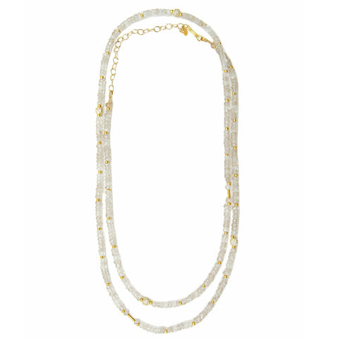 Natural Zircon Long Layering Necklace
