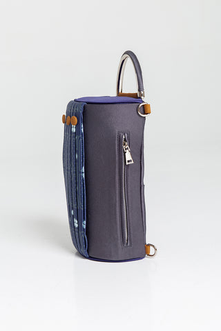 Curtain Clutch/ Top Handle Bag in Dark Grey