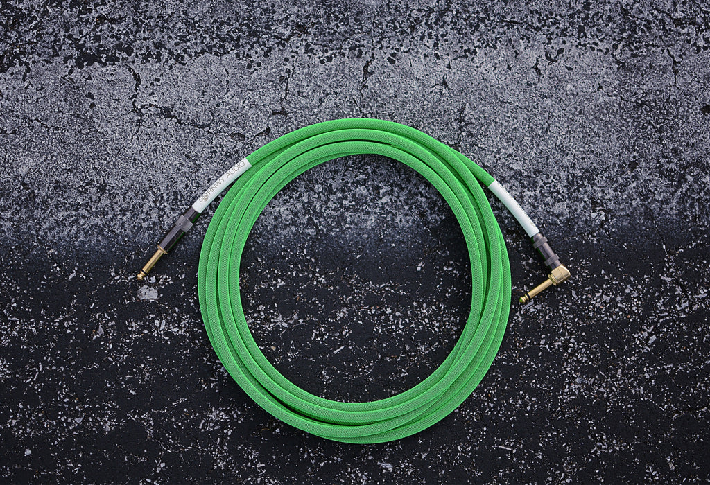 Runway Audio 15ft Instrument Cable - Coming Hour Green Exclusive Color