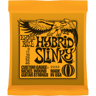Ernie Ball 2222 Hybrid Slinky Nickel Electric Guitar Strings