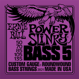 Ernie Ball 2821 Power Slinky 5-String Bass Strings