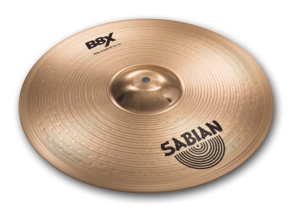 Sabian B8X 16 in. Thin Crash Cymbals 41606X