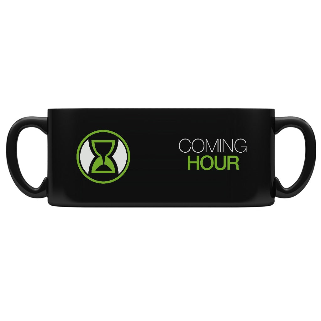 Coming Hour Black Logo Ceramic Mug - 15oz