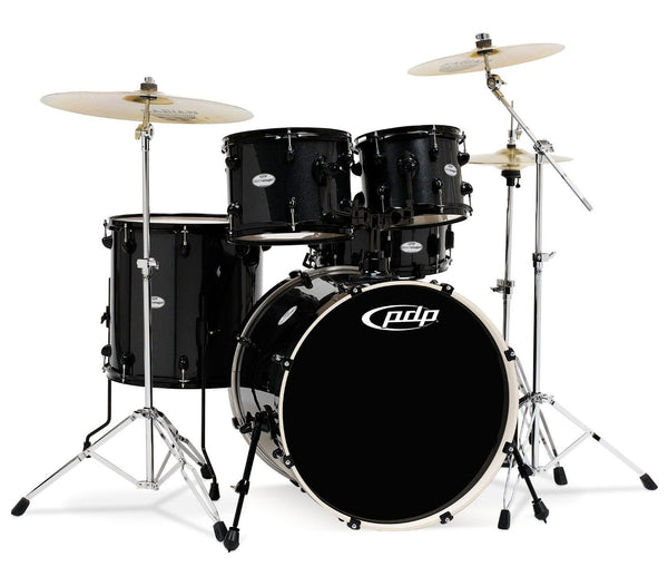 PDP Black Metallic MainStage Kit with Cymbals PDMA22K8BK