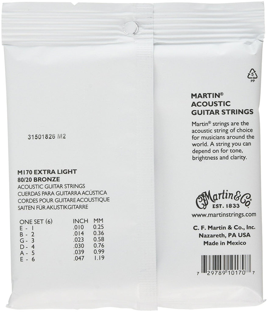Martin SP 80/20 Bronze Extra Light Strings M170