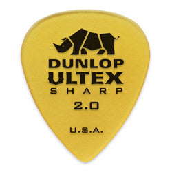 Dunlop Ultex 2.00mm Sharp Picks 6-pack 433P200