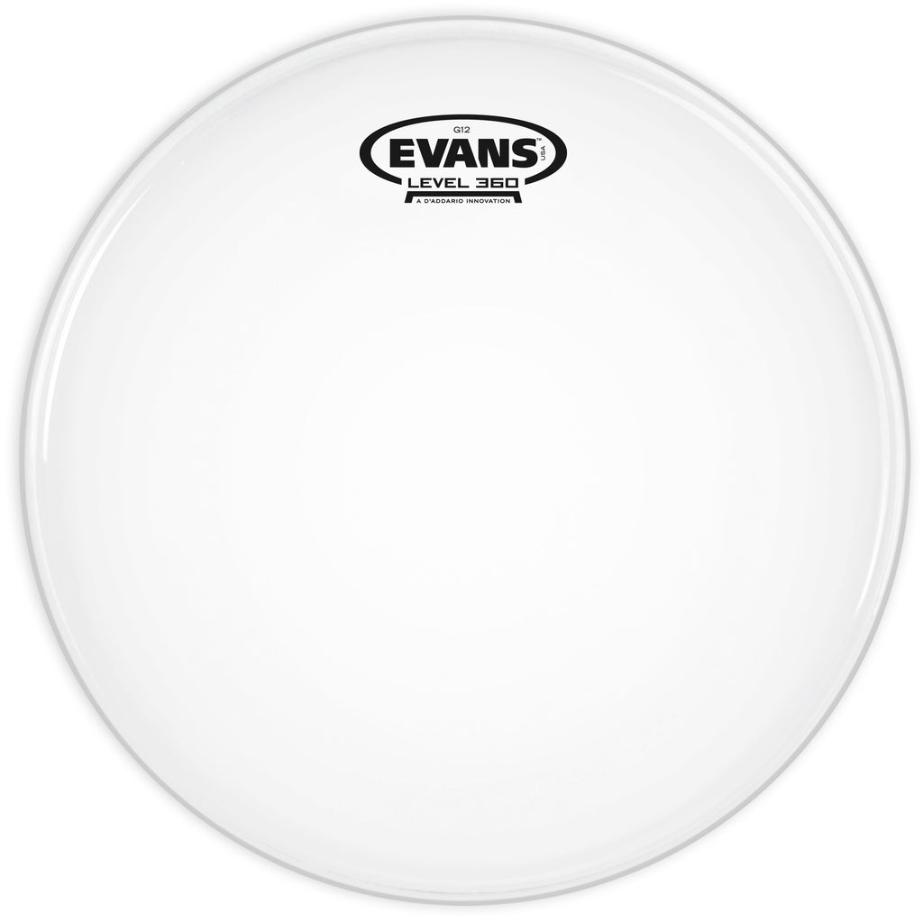 Evans G12 Coated White 12 in. Drumhead B12G12