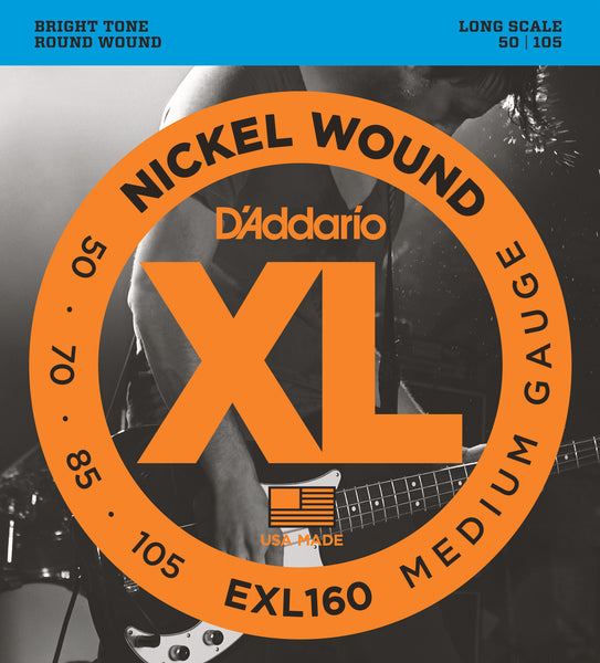 D'Addario EXL160 XL Nickel Wound Medium Bass Strings