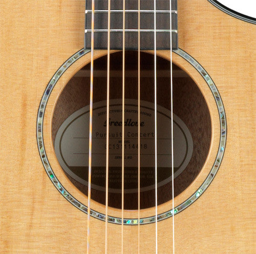 Breedlove Pursuit Concert Acoustic Guitar, Cedar Top, Gloss, Cutaway, Electronics w/ USB, with Gig Bag