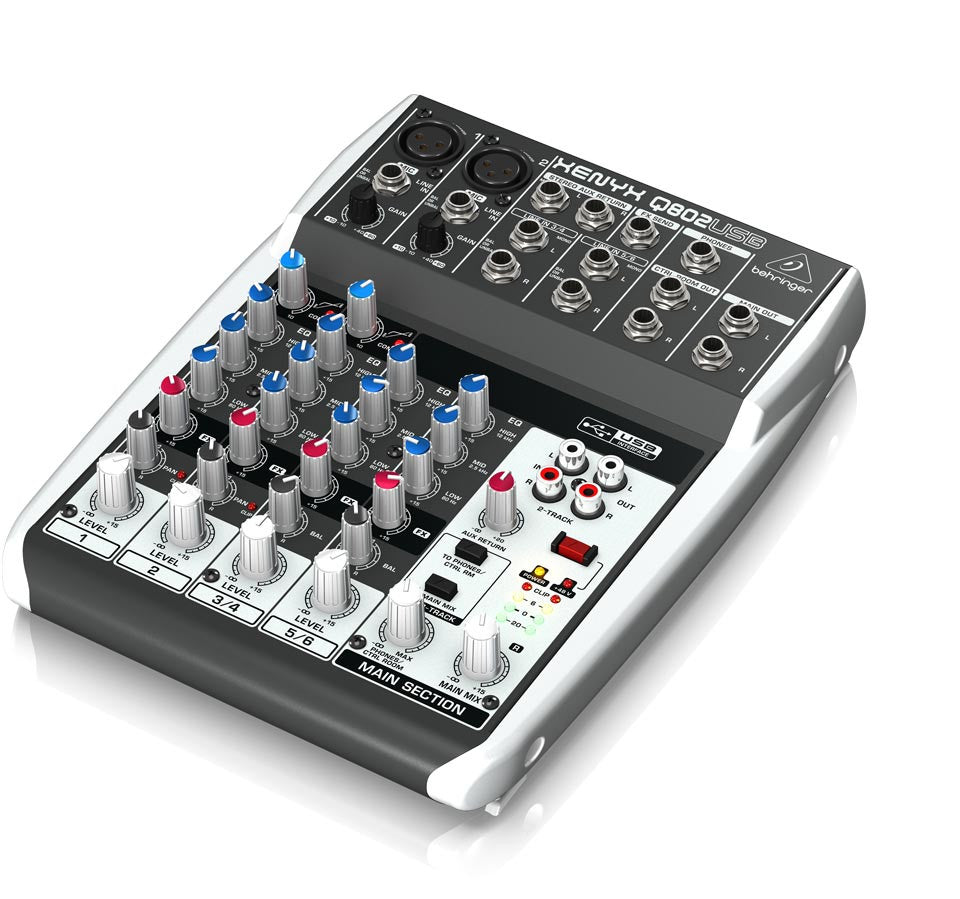 Behringer Xenyx Q802USB 8in 2bus USB-Mixer