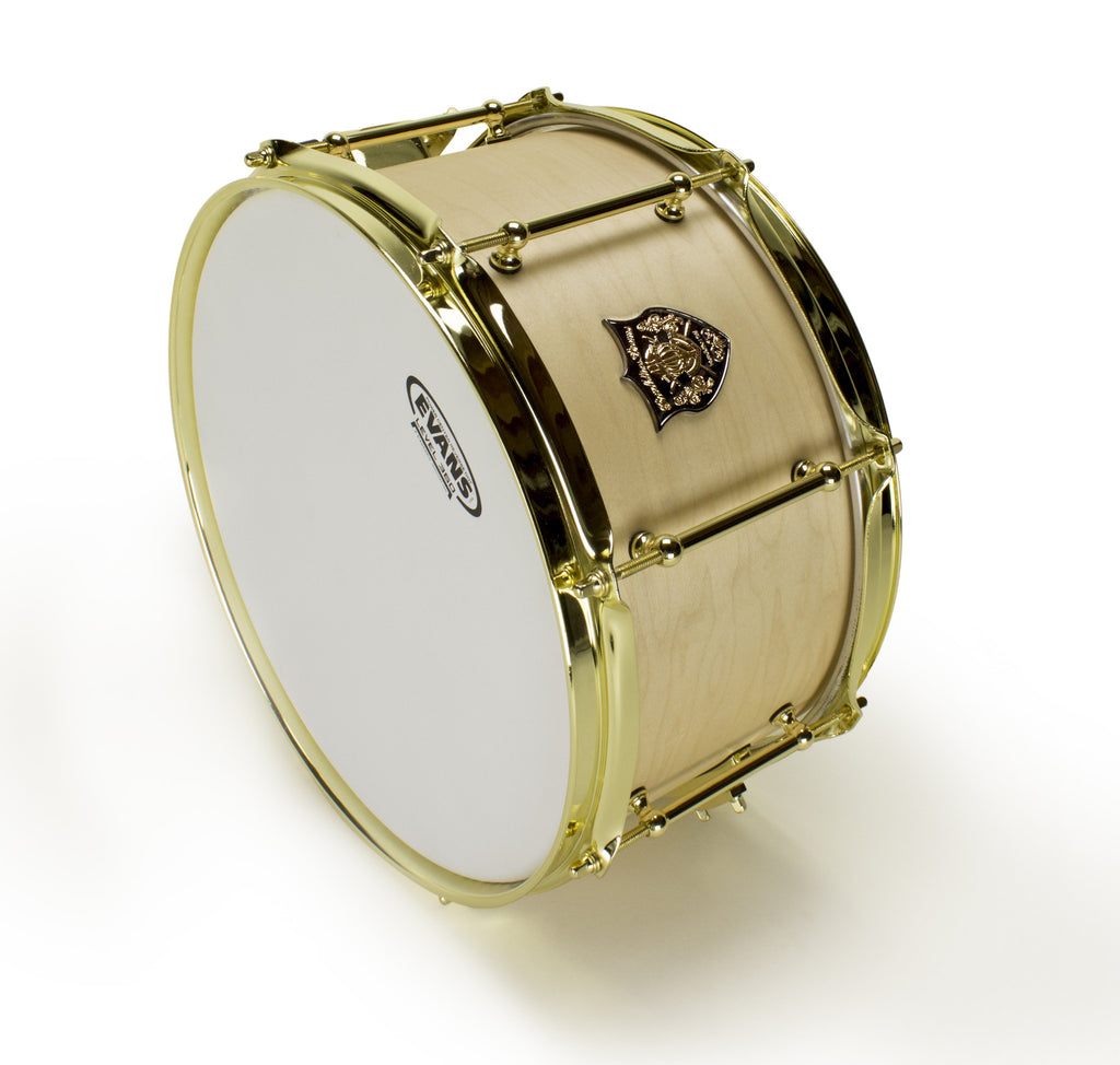 Revelation Drums Series 1 Snare Drum 6.5x13in.- Natural Satin Stain, Brass Hardware
