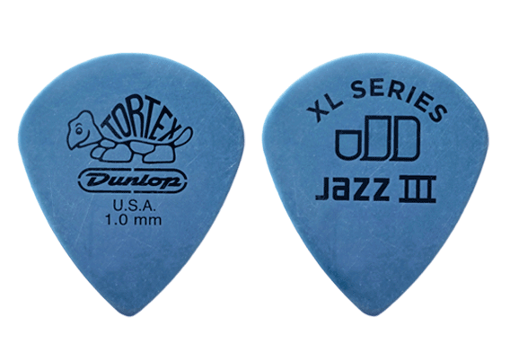 Dunlop Tortex 1.00mm Jazz III XL Picks 12-pack 498P100