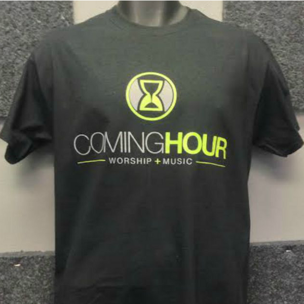 Coming Hour Standard Logo Black T-Shirt