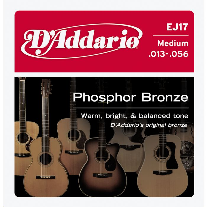 D'Addario EJ17 Phosphor Bronze Medium Acoustic Guitar Strings