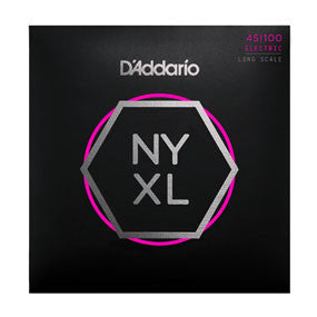 D'Addario NYXL45100, Set Long Scale Electric Bass Strings, Regular Light, 45-100