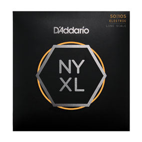 D'Addario NYXL50105, Set Long Scale Electric Bass Strings, Medium, 50-105