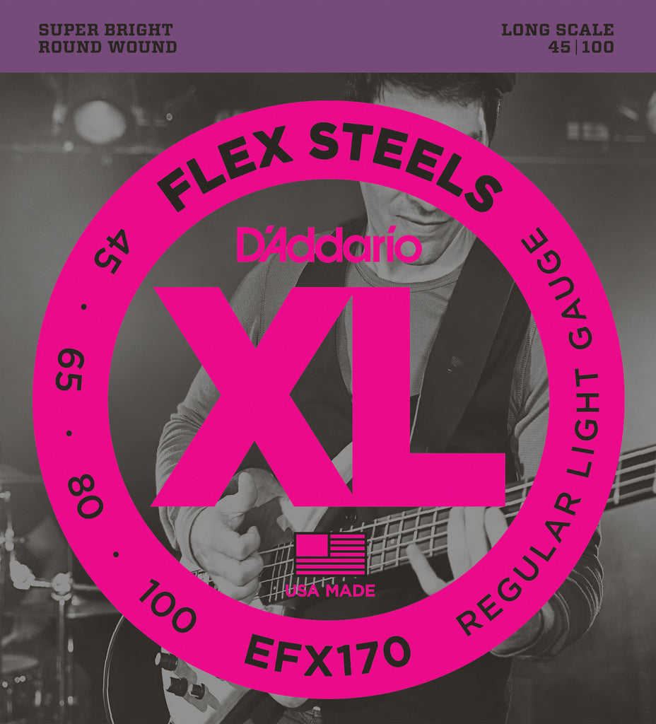 D'Addario EFX170 Light Flex Steels Bass Strings