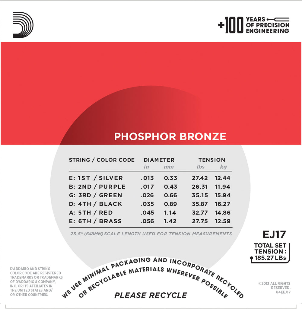D'Addario EJ24 Phosphor Bronze True Medium Acoustic Guitar Strings